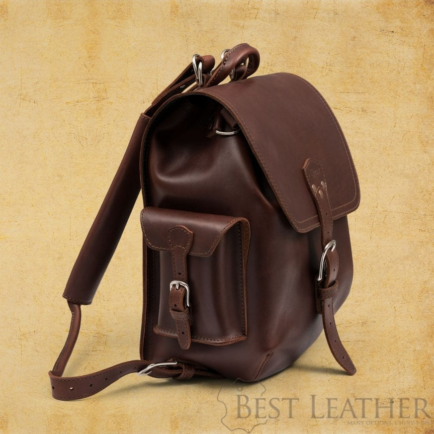 Saddleback leather simple backpack side