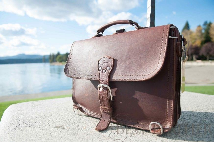 Saddleback leather thin briefcase