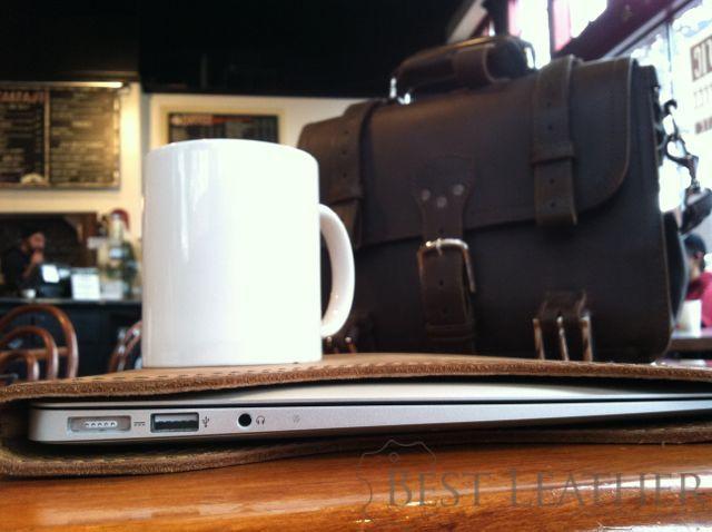 Macbook Air in Saddleback Leather MacBook Air Sleeve