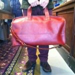 Jack Spade Red Duffel Front view - $1295