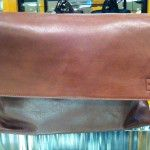 Bloomingdales Brown Leather Messenger Bag - $400
