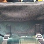 "Bloomingdales 15"" Black Leather Messenger Bag - $475"