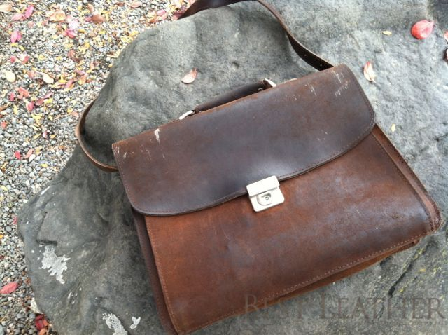 front of plevier leather messenger bag