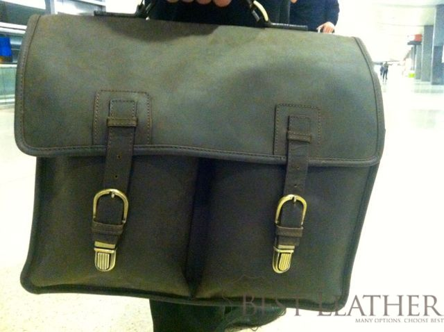 Ashwood Leather Briefcase side view