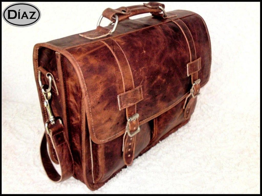 Diaz Medium Leather Messenger Bag