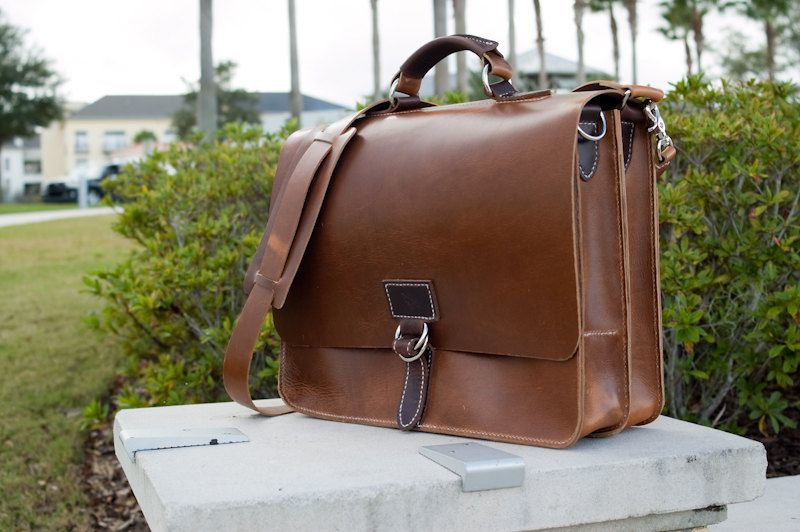horween chromexcel leather briefcase