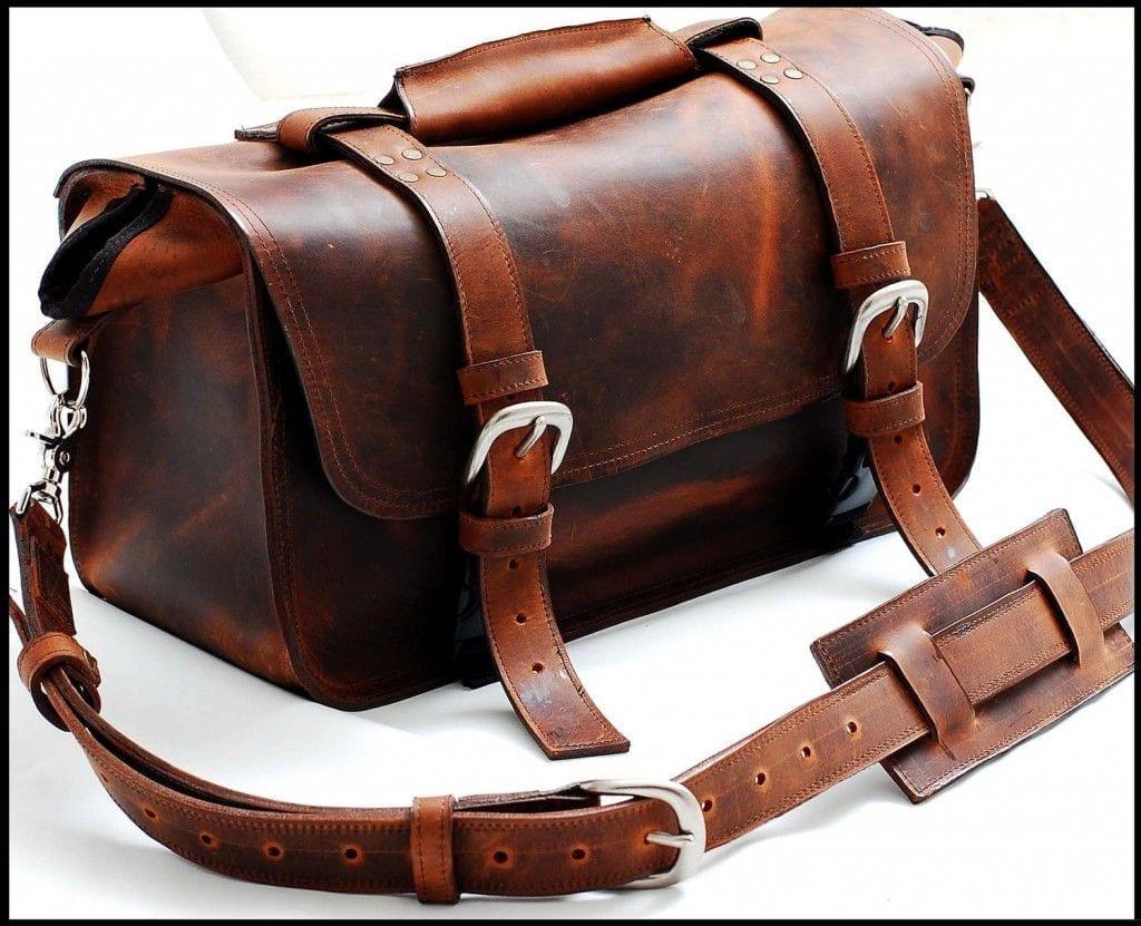 sizzle straps goliath leather camera bag