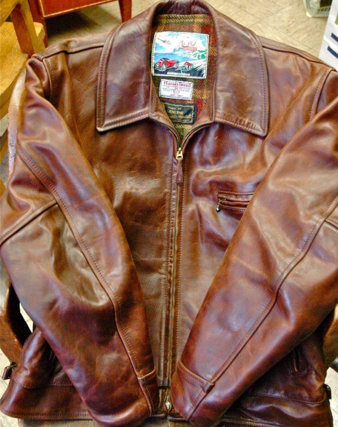 A Chromexcel leather jacket.