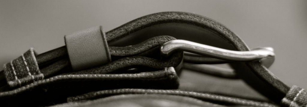 Simple leather belt header1