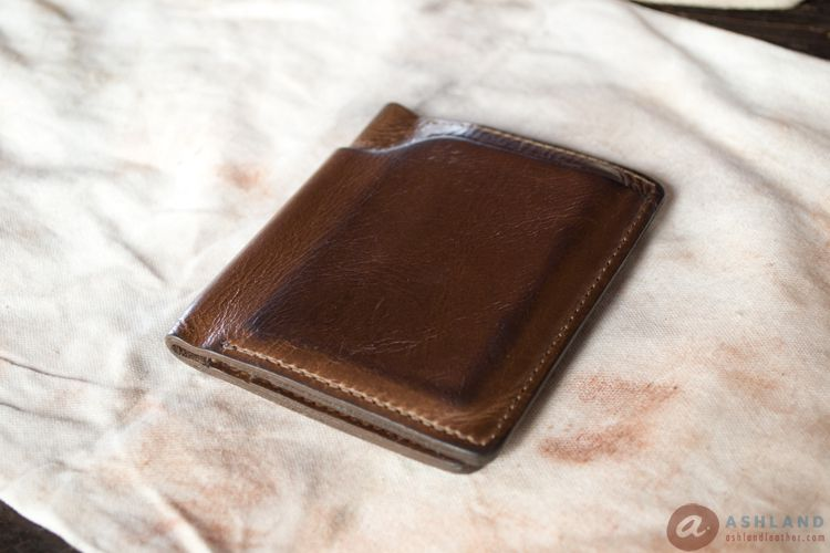 12Ashland Leather Co - Horween Chromexcel Scratch repair - Fixed