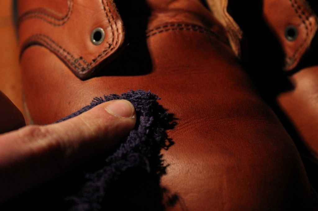 Rub off any excess wax with a soft cloth.