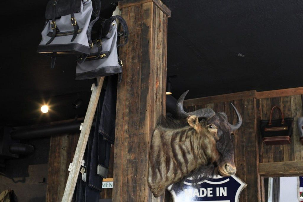 Lawrence, the mounted wildebeest head that serves as the inspiration for the name of Thrux Lawrence, presides over the shop in downtown Coeur d'Alene.