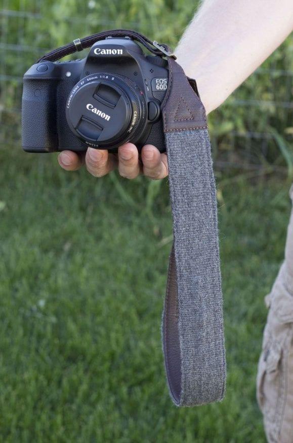 Cecilia Camera Strap in hand