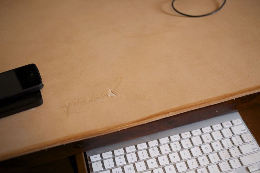 Homemade Leather Desk Pad3