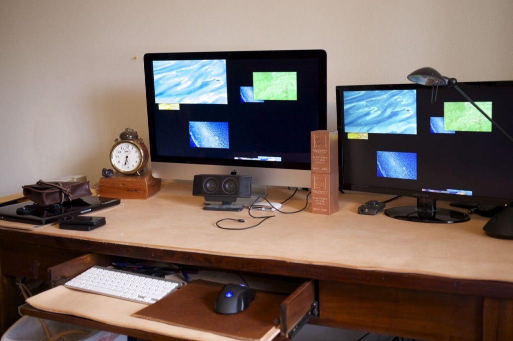 Homemade Leather Desk Pad5