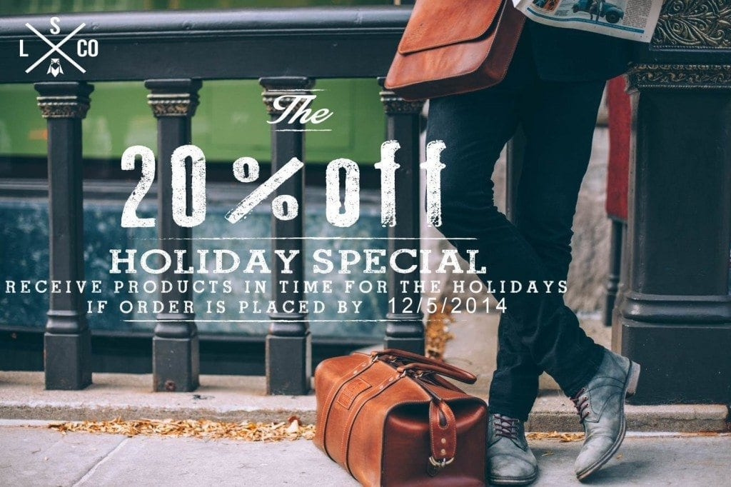 TheSpeakeasyLeatherCo Holiday Sale