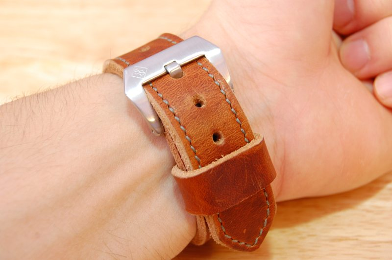SNPR-Leather-Works-Chestnut-Dublin-Watch-Strap-10