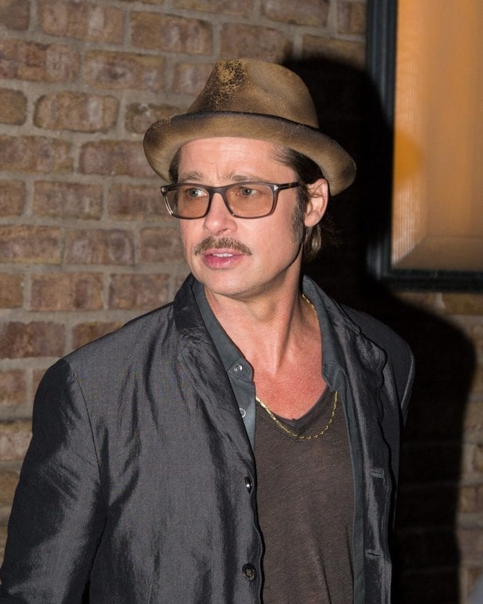 Brad Pitt is seen exiting his Downtown hotel in New York City