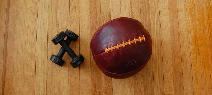 Leather Head Sports 12lb Medicine Ball Feature Photo