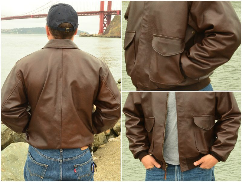 1c1df161acb US Wings Kangaroo Leather Bomber Jacket Modern A-2 Review -  889.00 ...