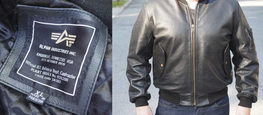 Alpha Industries MA1 Flight Jacket Cover