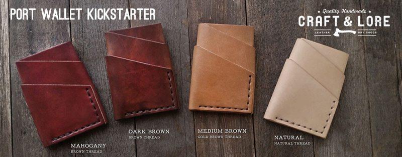 Craft and Lore Port Wallet Kickstarter Cover