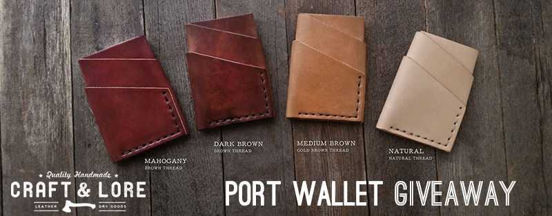 Port Wallet Giveaway Cover