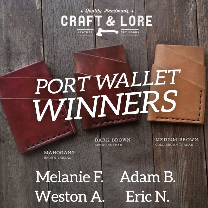 Port Wallet Winners