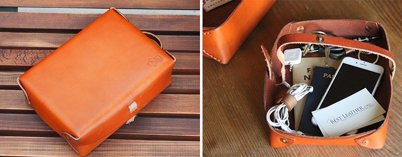 Westward Leather Double Tray Dopp Kit Cover