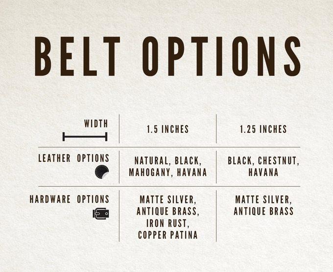 Belt Options - Satchel-Page