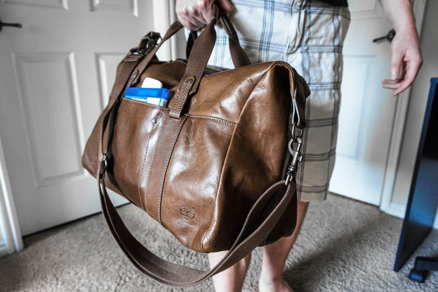Timberland Winnegance Leather Duffle Bag Dsc00966