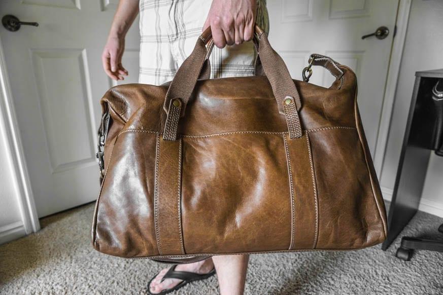 Timberland Winnegance Leather Duffle Bag Dsc00975