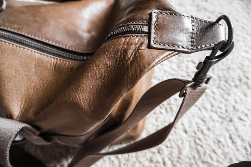 Timberland Winnegance Leather Duffle Bag Dsc00987