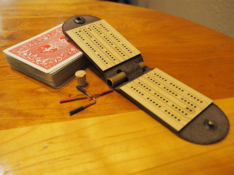 Walnut Studiolo Cribbage Board 3