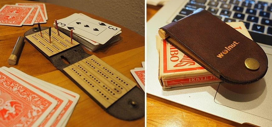 Walnut Studiolo Cribbage Board Cover
