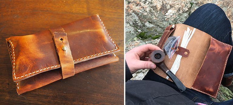 Range Leather Pipe Case
