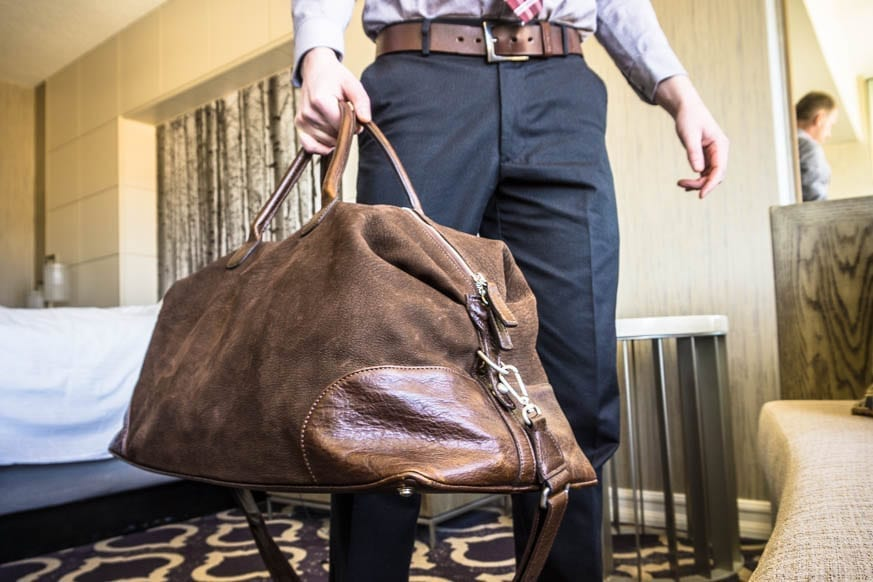 Moore-and-Giles-Benedict-Nubuck-Bison-Chocolate-Weekend-Bag-Review-$925-BestLeather.org-DSC01150