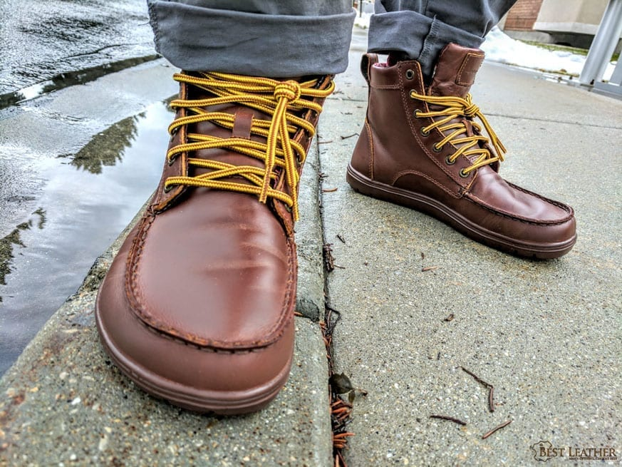 8b8a68b1d04 Lems Shoes Russet Leather Boulder Boots Review — $140 - BestLeather.org