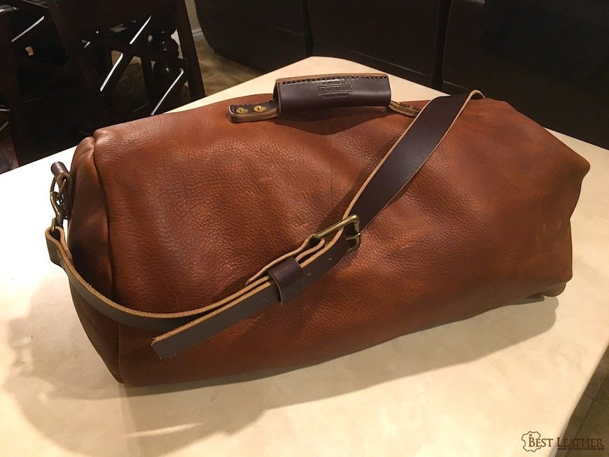 A Classic Military Style Top Loading Clip Closure Duffle But Made With Gorgeous Full Grain Pull Up Leather This Is Sy Has Both Modern