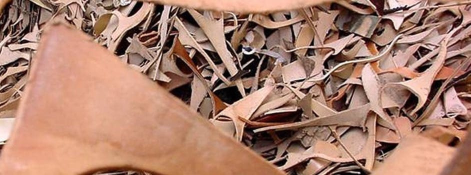 scrap leather of the type used to make bonded leather