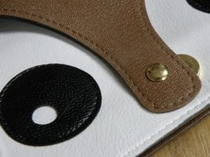 PU leather example bag