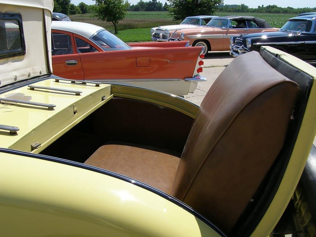 pleather seats in a 1929 DeSoto