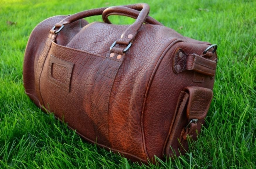 Not Because You Should Or It Makes Sense But Can Enter The Buffalo Jackson Ryder Reserve Bison Leather Duffle