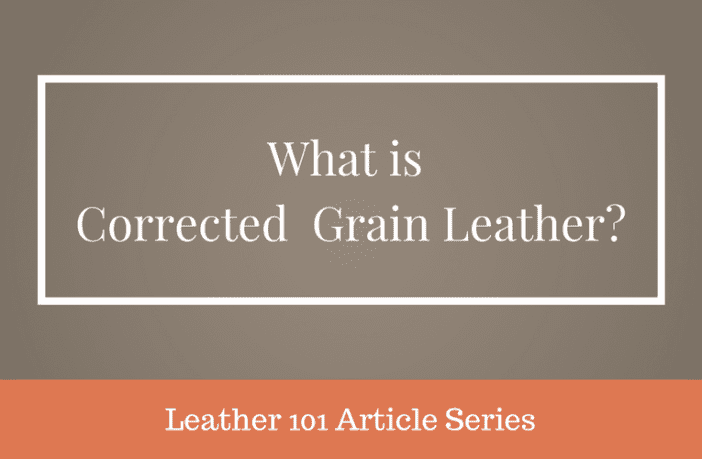 what is corrected-grain leather