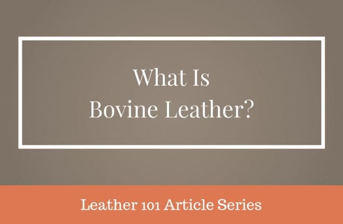 why is it called bovine leather