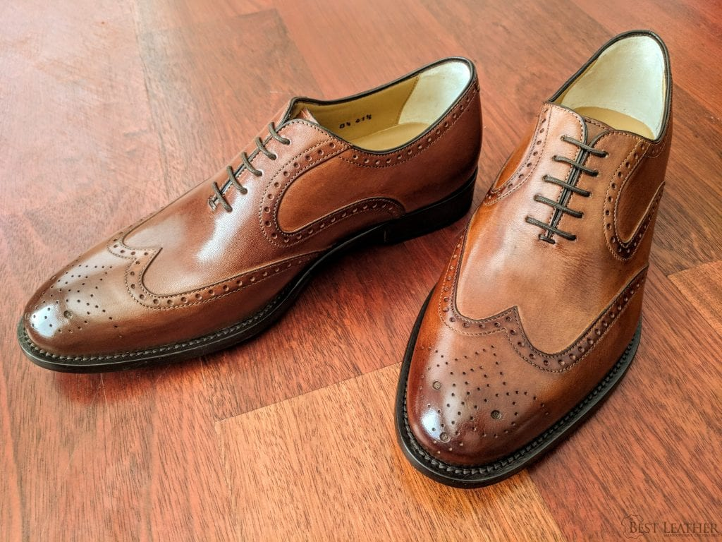 ca6ae25f2 Ace Marks Wingtip Oxford Cuoio Antique Leather Shoe Review —  320 ...