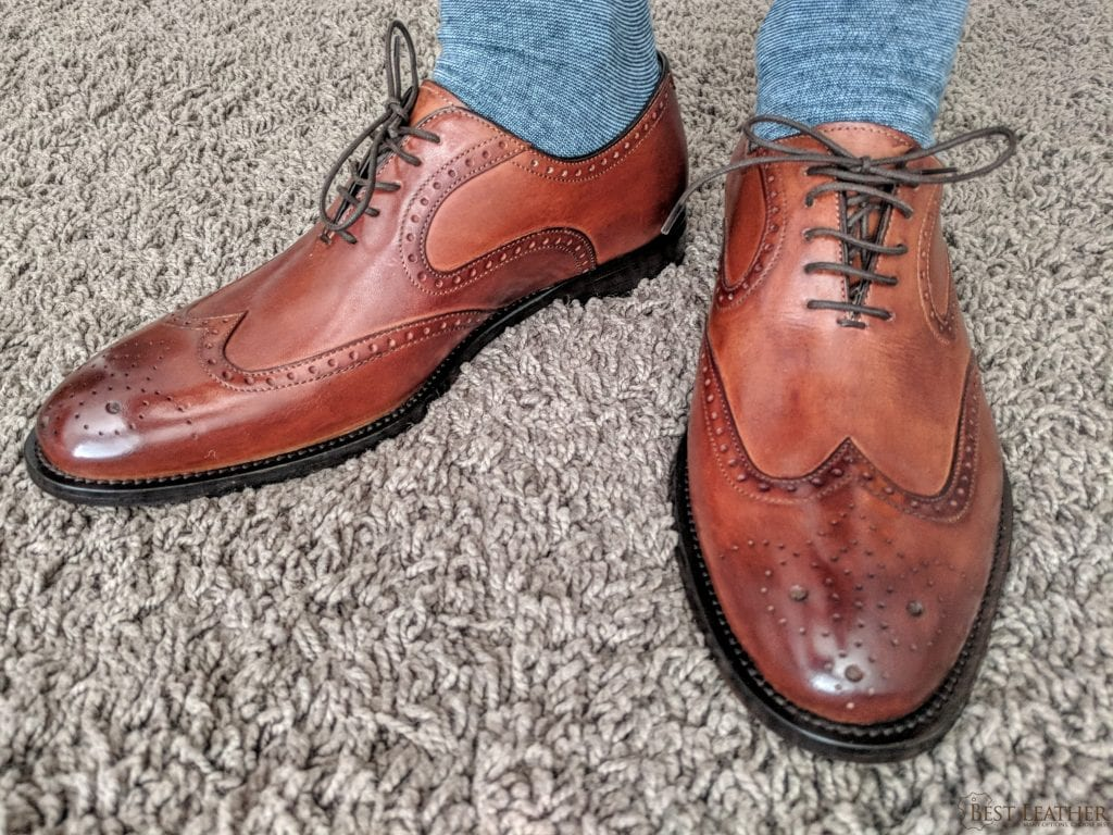 1fd591889b5 Ace Marks Wingtip Oxford Cuoio Antique Leather Shoe Review — $320 ...
